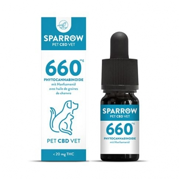 Sparrow PetCBD VET Öl 660mg 10ml (6.6%)