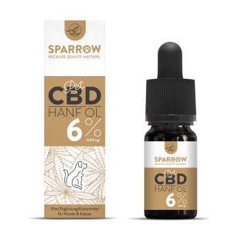 Sparrow CannaPet CBD Öl 10ml (6%)