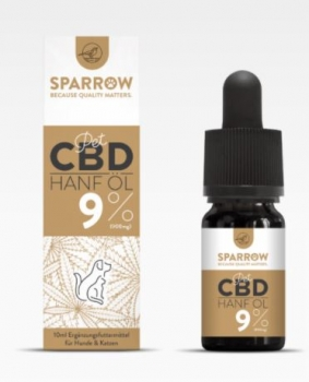 Sparrow CannaPet CBD Öl 10ml (9%)